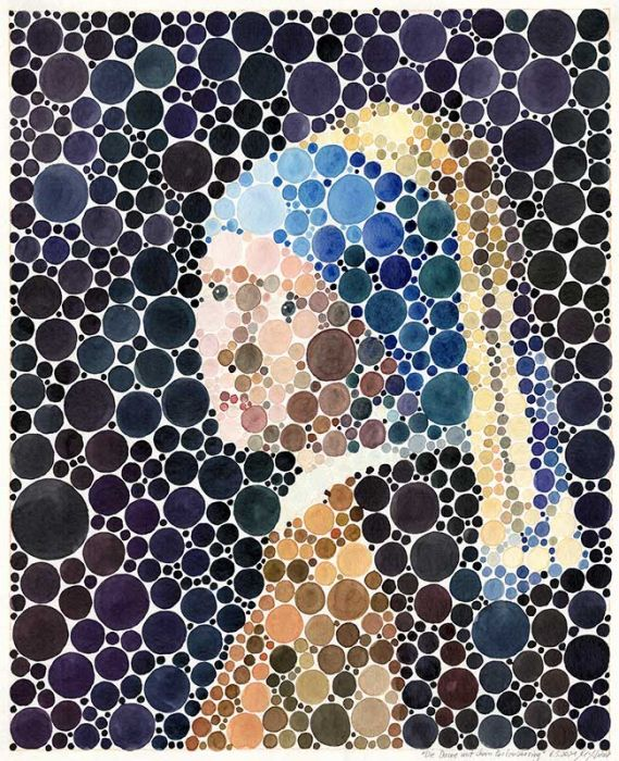Portrait of the girl with pearl earring (after Vermeer)