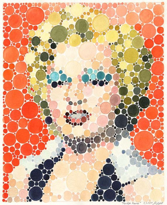 Portrait Marilyn Monroe (Neo-Pointilism)