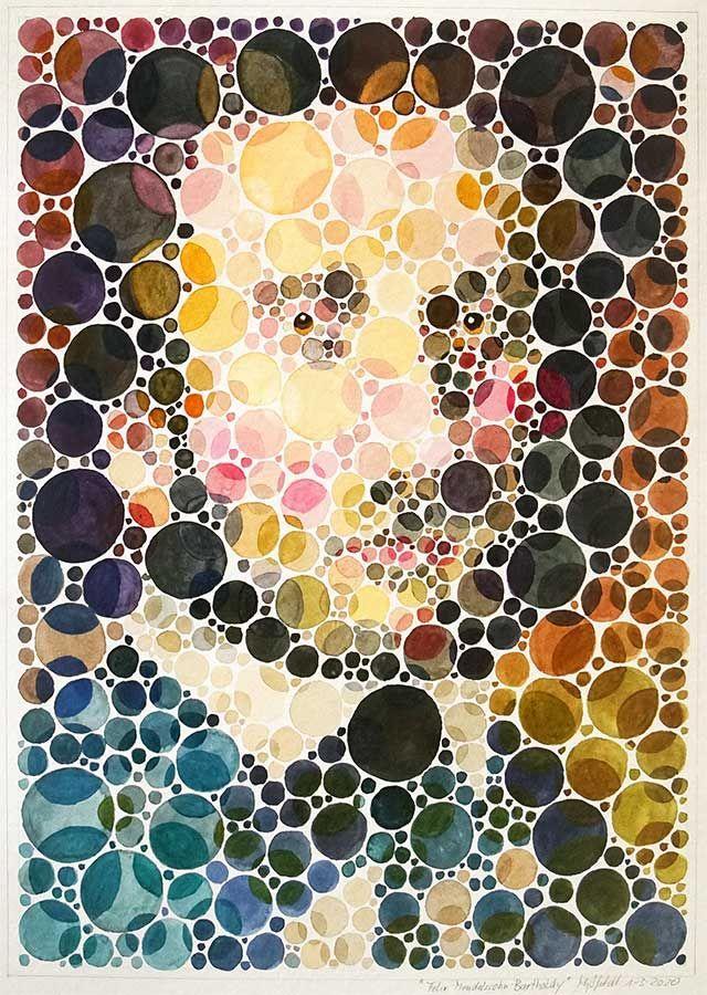 Watercolor-Portrait: Felix Mendelssohn Bartholdy