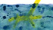 Giraffe swims in sea (Detail 2)