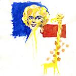 : Marylin shakes funny giraffe