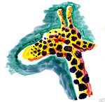 Giraffe head ( watercolor )