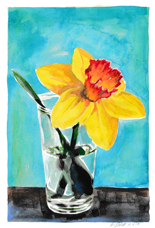 Flowers: narcissus (Watercolor)