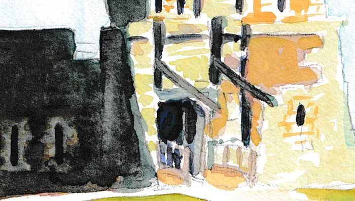 Tour Vauban (Watercolor) (Detail 1)