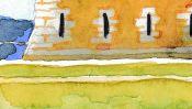 Tour Vauban (Watercolor) (Detail 4)