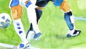 Watercolor Google vs. facebook (Detail 3)