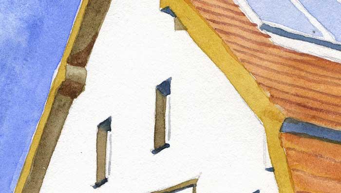 Watercolor House in Panketal near Berlin (Detail 1)