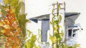 Watercolor House in Panketal near Berlin (Detail 3)
