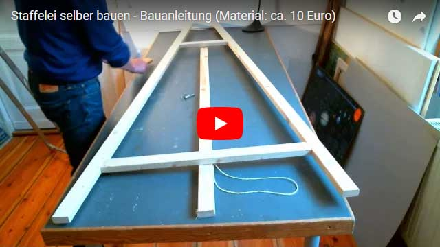 How to construct an easel by yourself
